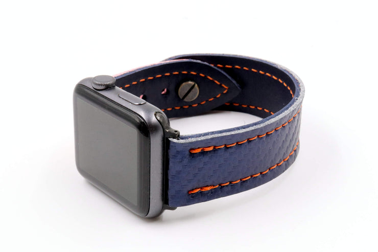 Long Island Star Blue/Orange iWatch Band
