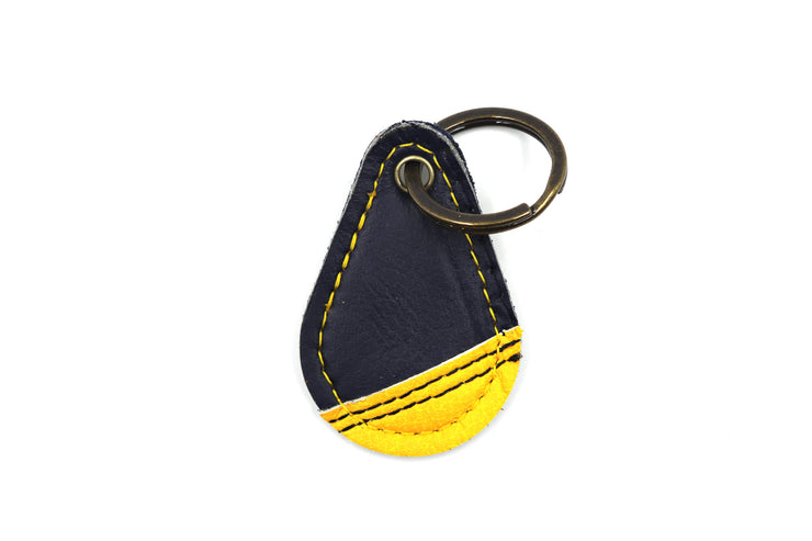 Contour Blue/Yellow Keychain