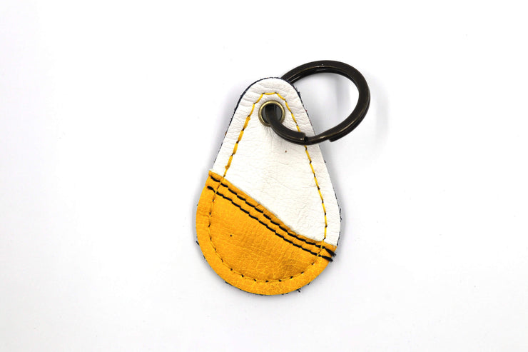 Contour White/Yellow Keychain