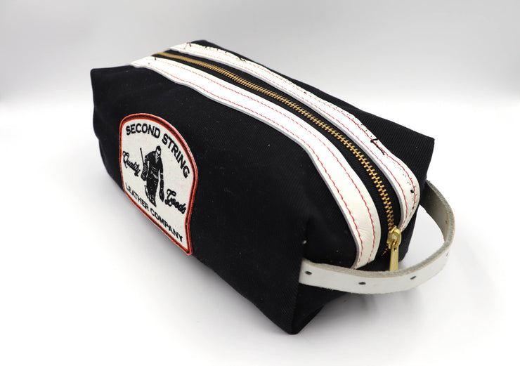 Devil Tails Bathroom Bag - White Stripes
