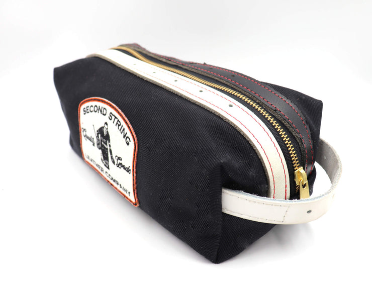 Devil Tails Bathroom Bag - Black Stripe