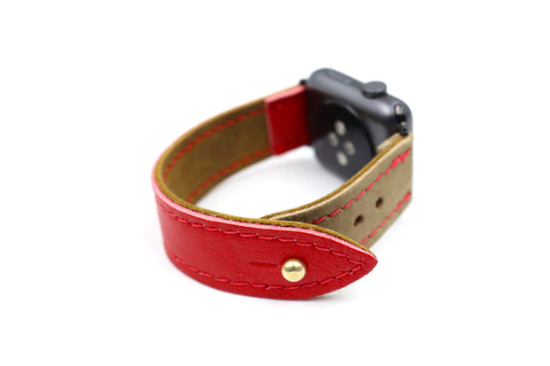 Brian's Air Hook Heritage Glove Red iWatch Band