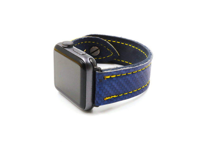 Brian's DX2 Glove Blue/Yellow iWatch Band