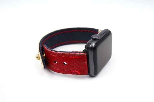 D&R SM6 Blocker White/Red iWatch Band