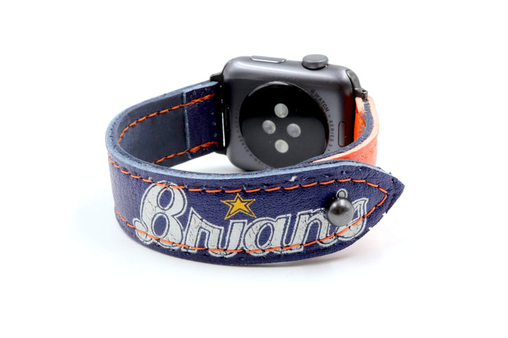 Panther Collection Navy/Orange iWatch Band