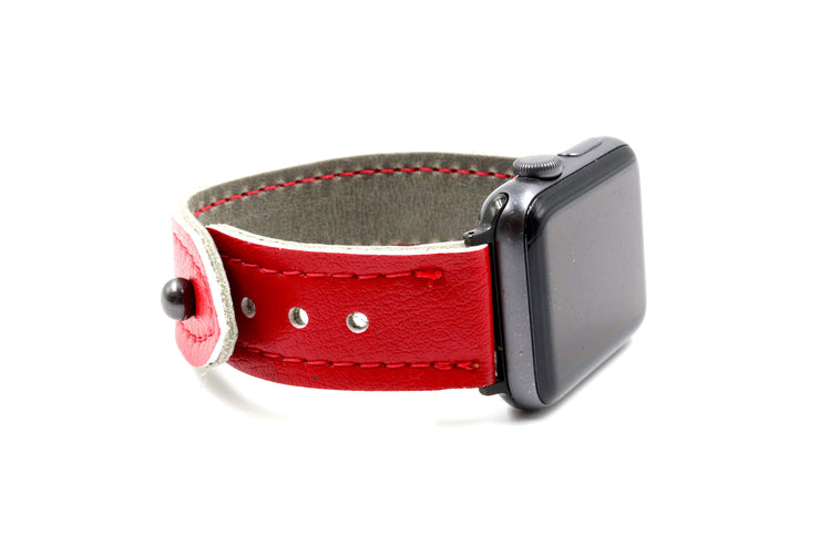 Winged Wheel Collection Red/Grey iWatch Band