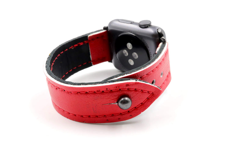 Winged Wheel Collection Red/Black iWatch Band