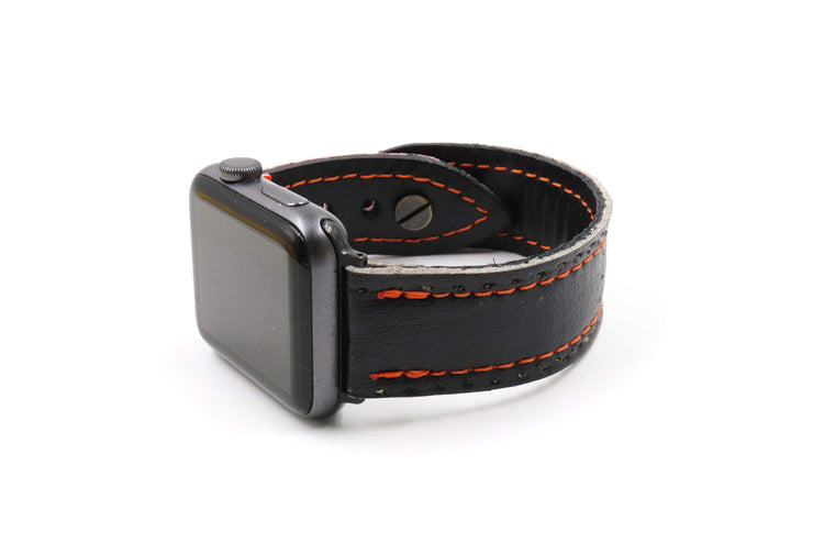 Omaha Collection Black/Orange iWatch Band