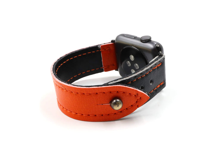 Omaha Collection Orange/Black iWatch Band