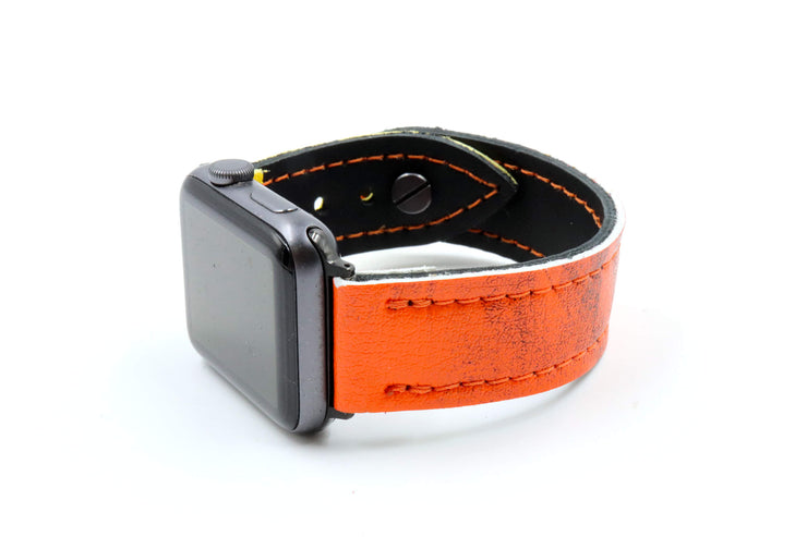 Heaton M2000 Glove Orange/Yellow iWatch Band