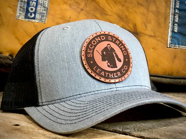 Gray Trucker Hat With Black Mesh Back