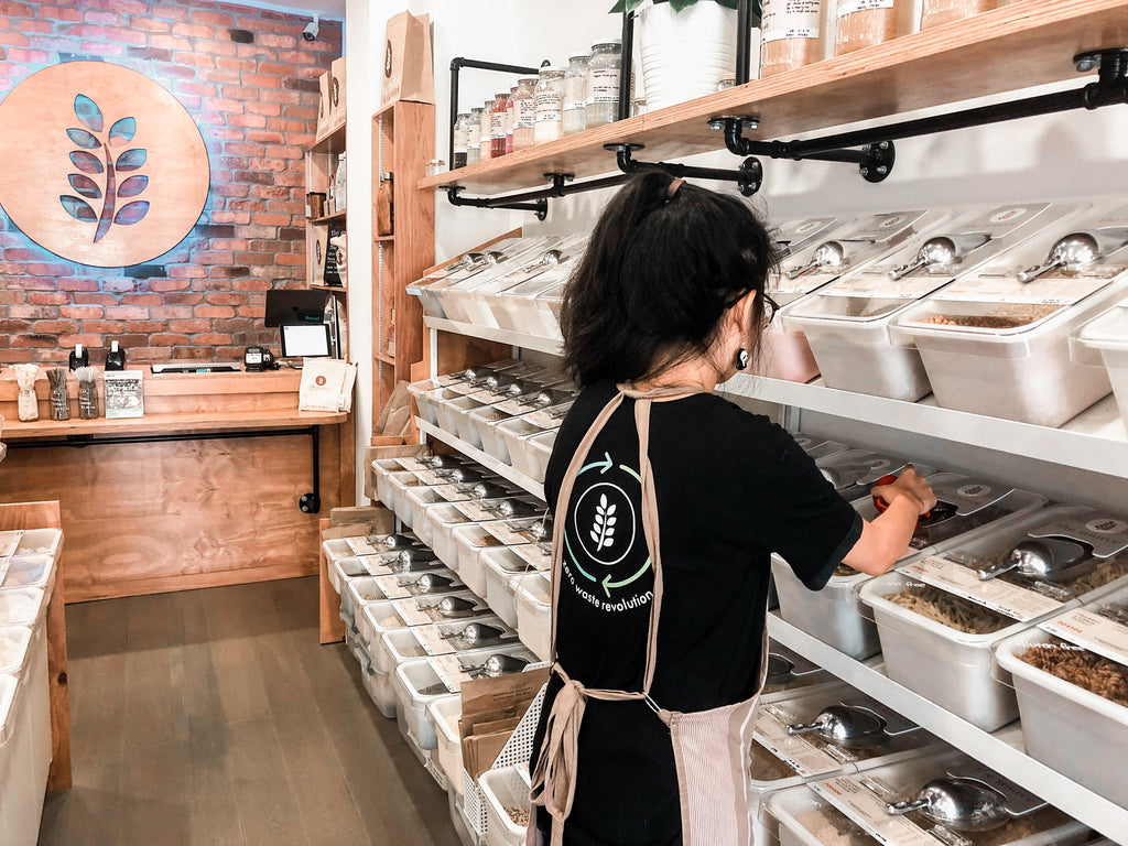 The Source, Bulk Food Store, Singapore, Zero Waste, Uniforms, Bamboo Cotton, Stain, Stained With Intention