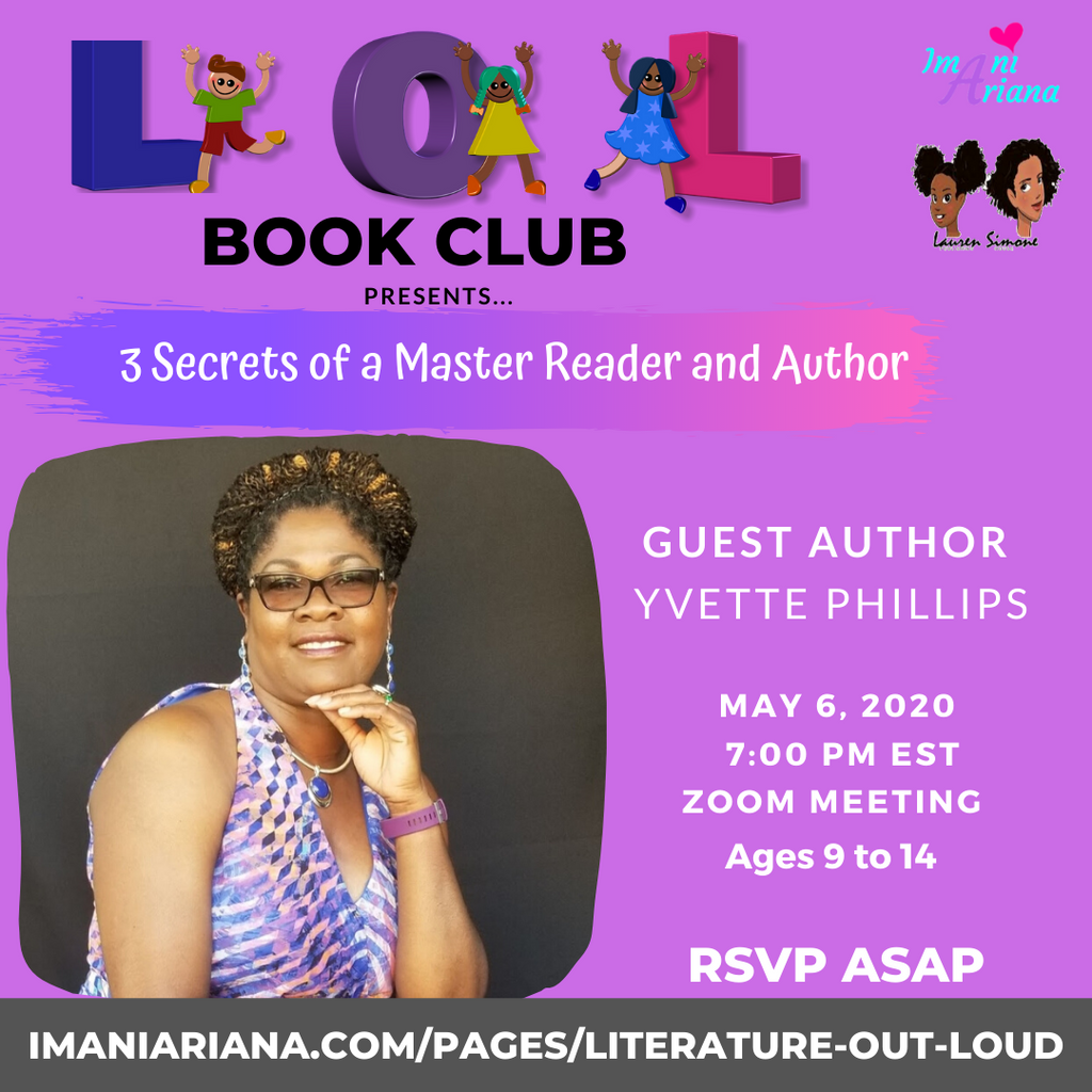 3 Secrets Of A Master Reader & Author: Author Yvette Phillips Shared Her Secrets With The LOL Book Club