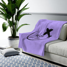 Load image into Gallery viewer, Purple Ready for Take Off Velveteen Plush Blanket