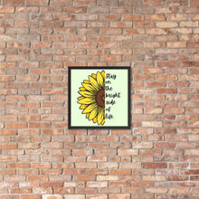 Load image into Gallery viewer, Sunflower Framed Poster