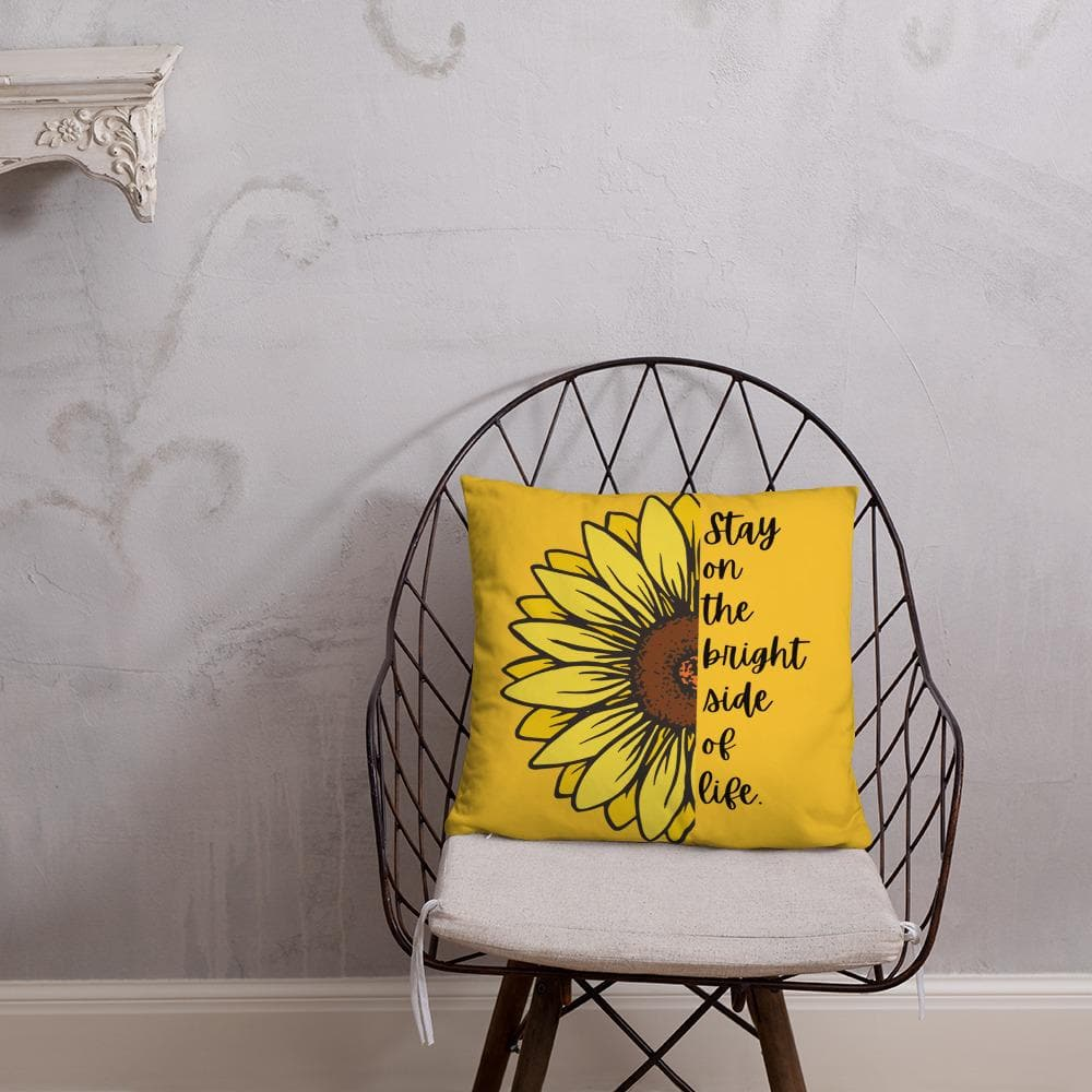 Sunflower Basic Throw Pillow