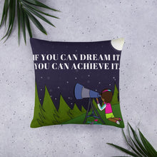 Load image into Gallery viewer, Dream It Achieve It Basic Throw Pillow