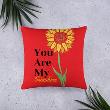 Load image into Gallery viewer, Your Are My Sunshine Basic Throw Pillow