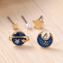 Load image into Gallery viewer, Moon, Planet and Star Earrings  (5 Pieces)