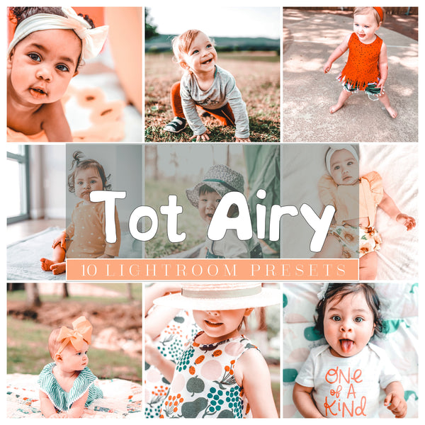 Tot AIRY PRESETS- Mobile Lightroom Presets 10 pack