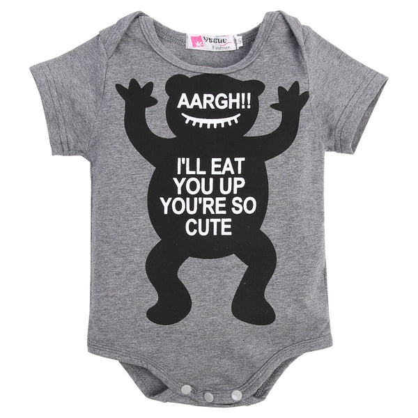 """Eat You Up Monster"" Short-sleeve Bodysuit"