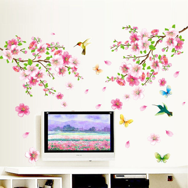 """Birds And Flowers"" Girls Wall Decal"
