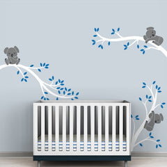 "3 Pieces ""Koala On A Tree"" Wall Decal"