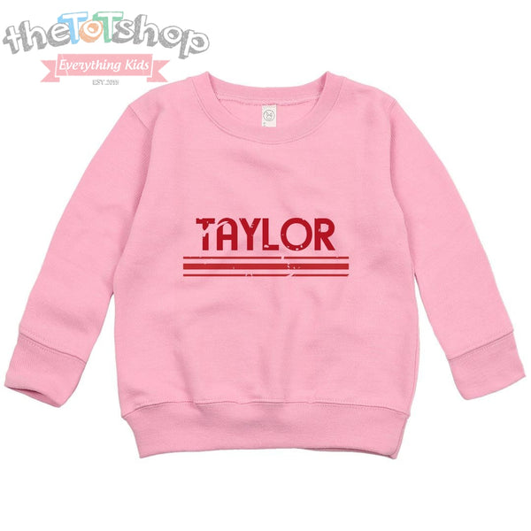 """The Taylor"" Custom Name Distressed Sweatshirt"