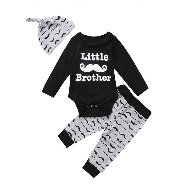 "3 Piece ""Little Brother"" Mustache Set"