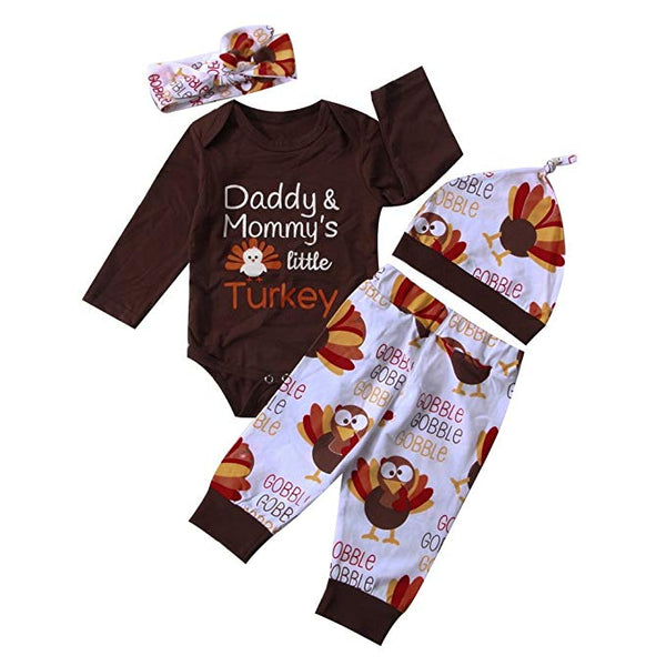 "Baby ""Daddy & Mommy's Little Turkey"" 4-Piece Set"