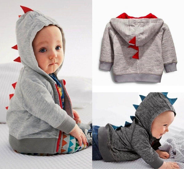 """Babysaurus "" Spiked Hooded Jacket"