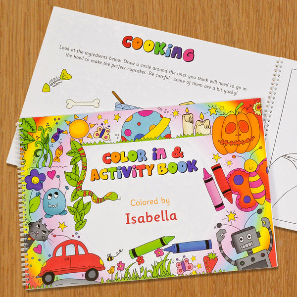 Personalized Color In Activity Book