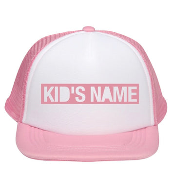 "Custom Name ""Block"" Letter"" Kids Trucker Cap"
