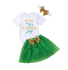 """First St. Patty's"" Girls Tutu Set"
