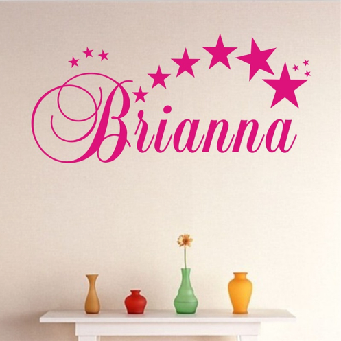 "Custom Name ""Starz"" Unisex Wall Decal"