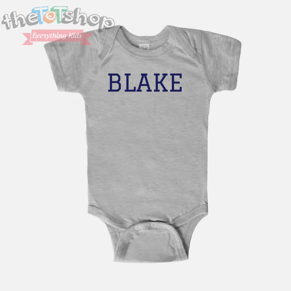 """TEAM"" Boys Custom Name 100% Cotton Bodysuit"