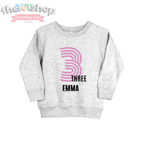 """Retro"" Girls Name/Year Sweatshirt"