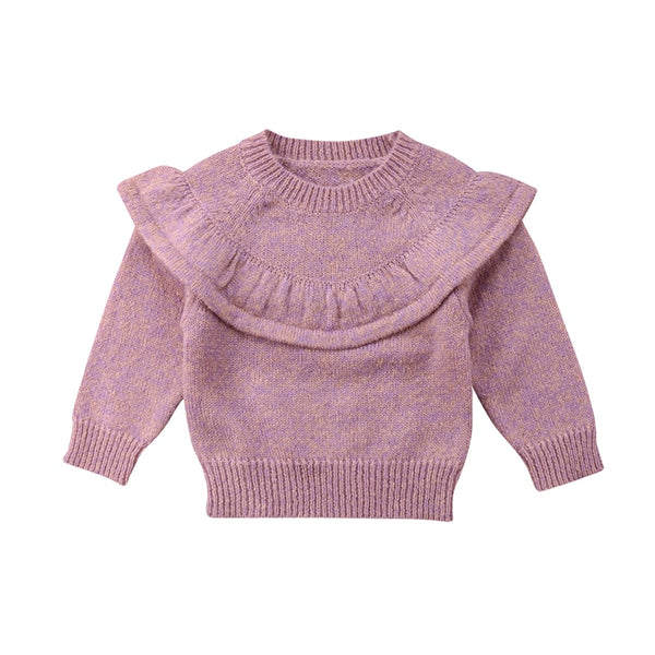 "Infant ""Autumn""  Ruffle Trim Sweater"