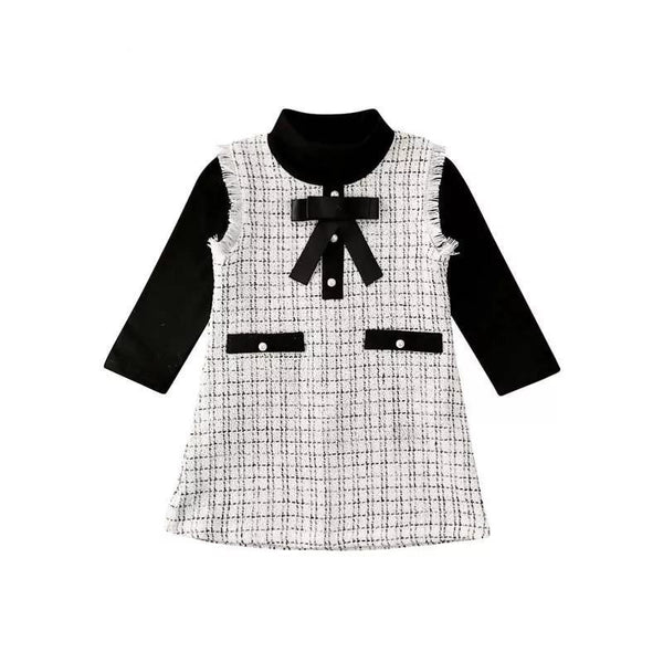 COCO 2 Piece Turtleneck and Plaid Dress