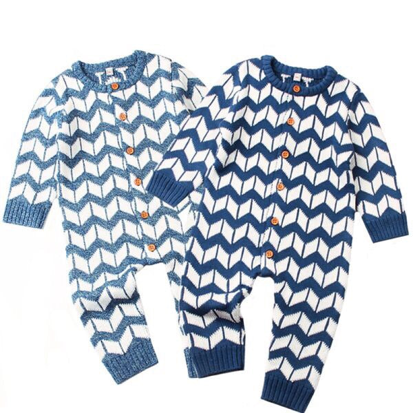 Chevron Ribbed Knit Onesie