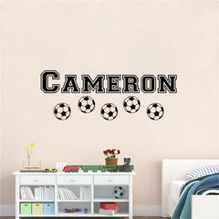 "Custom Name ""Soccer Boy"" Boys Wall Decal"