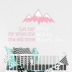 """She Will Move Mountains"" Girls Wall Decal"