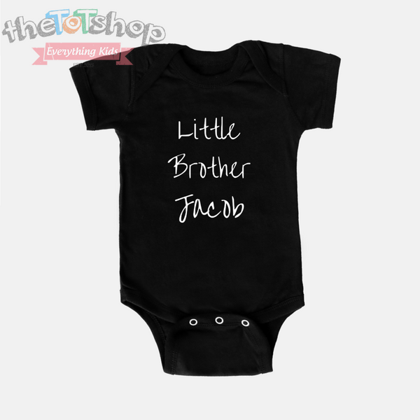 """Little Brother"" Custom Name Onesie"