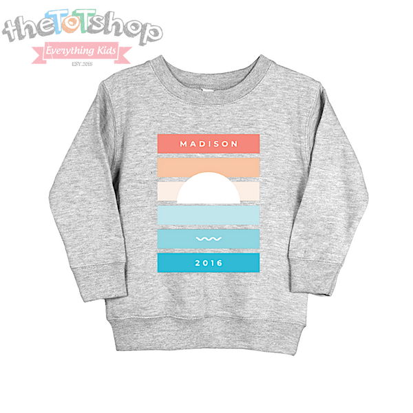 """The Madison"" Custom Name/Year Tot Sweatshirt"