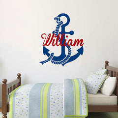 "Custom Name ""Anchor"" Boys Wall Decal"