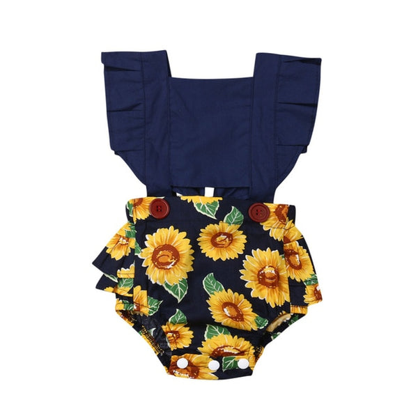 """Sunflowers"" Pattern Playsuit"