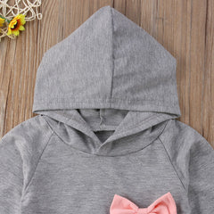 """Distressed Bow"" Hoodie Set"
