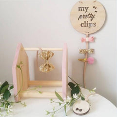 """Pretty Clips"" Bow and Clip Hanging Decor"