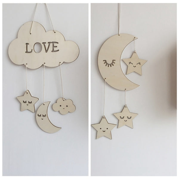 """Love Moon"" Nordic Wall Hanging"