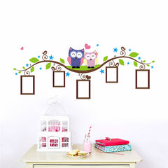 """Owls On A Branch""  Wall Decal"